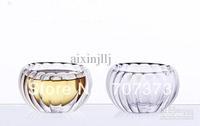 Wholesale - Tea Ware Non-porous Glass Double-layer Cup Pumpkin Insulated Teacup Cups 6pcs/box