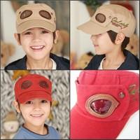 free shipping Children pilot shaped caps hats 2014 new design fashion popular beauty red beige color child kids cap elastic size