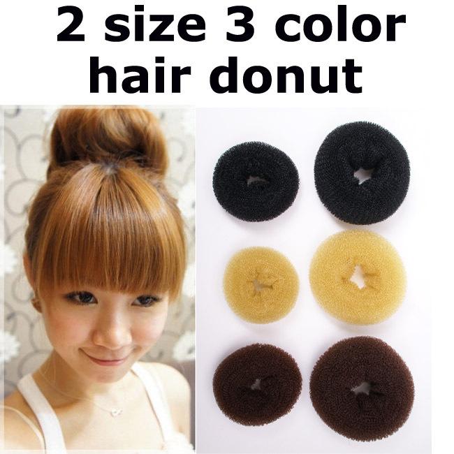 12pcs/lot Free shipping AS seen on TV Fashion women's Headwear DIY Beauty Donut Hair Styling Maker Hair Roller Hair bun Ring(China (Mainland))