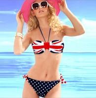 new 2014 swimwear print bikinis set swimwear women  vintage bathing suit bikinis set push up bikini 1pc