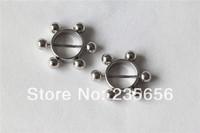 316L Body piercing jewelry free shipping New 2014  nipple rings earrings 2pcs/lot  RH0304