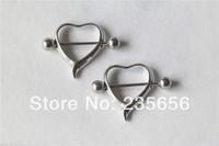 2pcs/lot  New 2014 316L Body piercing jewelry free shipping  nipple rings earrings  RH0305