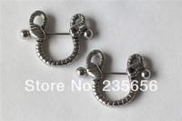 New 2014  2pcs/lot  316L Body piercing jewelry free shipping  nipple rings earrings  RH0306