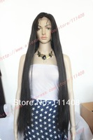 """Custom! NEW Long Wig 28"""" 70cm #1B 100% Indian Remy Full Lace / Lace Front / Glueless LACE WIG Silky Straight"""