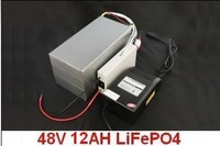 Free shipping! Lithium iron phosphate battery 48V of 12 AH (BMS, fast charger and bag)