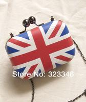 freeship New 2014 fashion UK England flag printing women clutch / vintage messenger mag shoulder bag / pu leather handbags bolsa