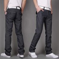 2014 spring\autumn new fashion Men's Pants Slim fit long plus velvet straight denim stretch wear casual jeans  Free shipping