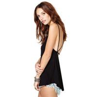 Free shipping! 2014 new Fashion black racerback spaghetti strap cross the back unique slim sexy small vest