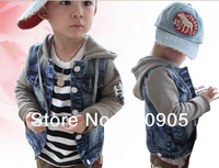 retail children/kids autumn boy jeans clothing patchwork jacket lovely jackets for boys hoodies
