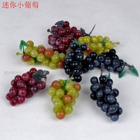 Artificial fruit fake vegetables bread handmade decoration material mini grapes grape