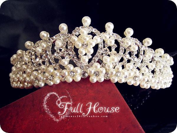 Aesthetic white rhinestone pearl the bride hair accessory the bride accessories wedding jewellery hair accessory accessories(China (Mainland))