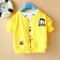 Free shipping Baby spring 2014 infant spring outerwear baby clothes male female child clothes 0 - 1 - 2 years old cardigan