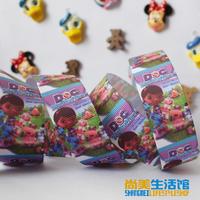 25mm cartoon graphic patterns printing belt rib knitting belt gift packaging ribbon hair accessory tousheng  10 yards
