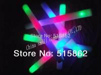 customized logo   Freeshipping 100pcs/lot led foam stick led foam batonfoam glow sticks led baton sticks retail for night club