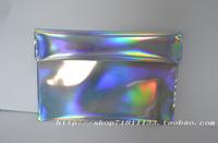 Large PU Hologram Laser Envelope Bag Ruched Edge Handbag Multicolor 34*24cm silver day clutch Handbag Messenger Bag