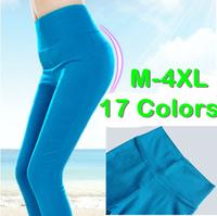 M~4XL 17 Candy Colors Women Spring Summer High Waist Skinny Legging Pants New Neon Stretchy Thin Pencil Thin Long Legging Pants