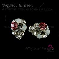 50pcs colour tear drop Crystal Rhinestone Alloy Nail Art Glitters DIY Decoration