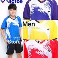 2014 New Victor Badminton shirt ,Victor short suit ,Victor Men Badminton ,  Victor Tennis