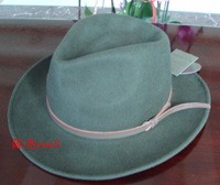 Pure wool quality wrinkle-free riding hat cowboy hat equestrian cap lihua brown fedoras male women's hat