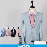 Wholesale Beige Blazer For Men Blazer 2 Button Casual Suit Jacket Formal Dress