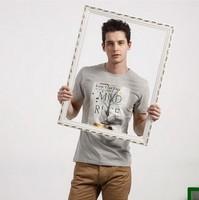2014 Fashion Leisure Printing T-shirt  Pure Cotton Elastic Men's Short-Sleeved T-shirts