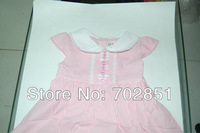 2014 new cotton baby girl dress Pink color  female child summer clothes sleeves Navy Dress Cute style Brand New New