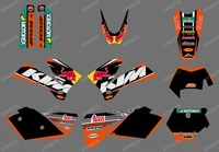 New style (0407 BULL BLACK) TEAM GRAPHICS & BACKGROUNDS DECALS FOR KTM SXF MXC SX EXC 2005 2006 2007