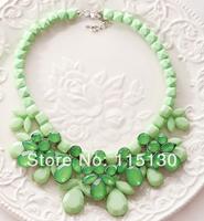 2014 New Designer Statement Crystal Flower Choker Necklaces & Pendants Women Trendy Rhinestone Bib Collar Necklace Wholesale