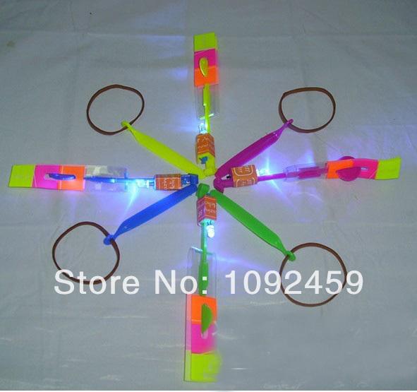 LED amazing arrow Flying helicopter umbrella kids toys Space UFO,LED Lighte Up Toys(China (Mainland))