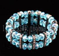 Elastic double layer double bracelet gang drilling machine rhinestone crystal handmade bracelet customize chromophous