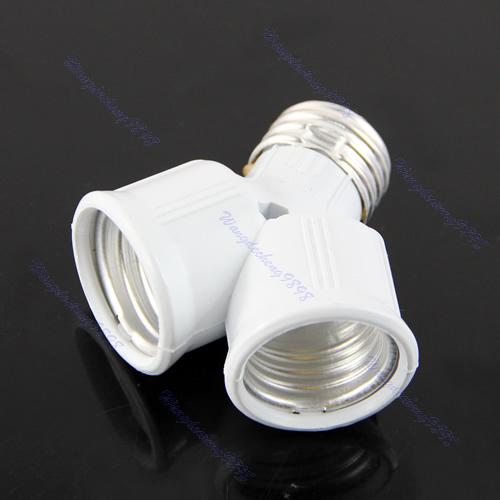 -Free-Shipping-3pcs-lot-E27-to-2x-E27-LED-Halogen-CFL-Light-Lamp-Bulb