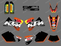 New style (0406 bull WHITE BLACK) TEAM GRAPHICS & BACKGROUNDS DECALS FOR KTM SXF MXC SX EXC  250 300 350 400 520 2001-2002