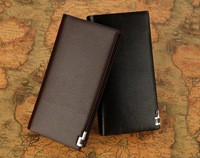 2014 New ! High Quality Genuine Leather Wallet Men Brand Men's Fashion Vintage Long    Male Wallets man purse Free