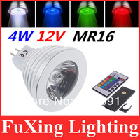 Innovative items 2pcs/lot 4W MR16 RGB LED Bulb Light  lamp spotlight with Remote Controller for home party Improve atmosphere