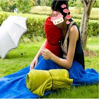 Fleece sleeping bag thickening lengthen type envelope air conditioning blanket travel sleeping bag