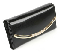 2014 New High-Grade Leather Purse Wholesale Interlining Genuine Leather Wallet Hand Bag,Women Cowhide Wallet,Noble Black