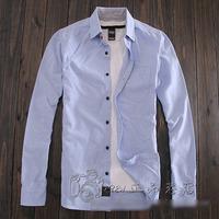 Spring male 100% Oxford cotton silk cloth slim long-sleeve shirt