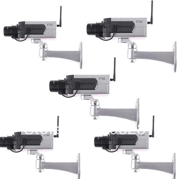 Free shipping!!5pcs/ lot Fake Dummy Wirelesss CCTV Security Camera Motion Detection Flashing Red LED(China (Mainland))