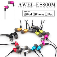 AWEI ES800M 3.5mm Bass stereo headphone earphone for Mp4/5 cell phones and pc