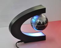 C shape Magnetic Levitation Floating Globe World Map with LED Lights 2pic/lot free shipping
