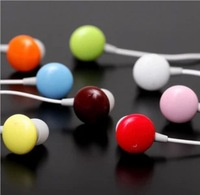 No min order+free shipping! 3.5 mm cute Chocolate Bean Candy in-ear Earphone Wired Headphone for Mobile Phone,MP3/4,Media Player