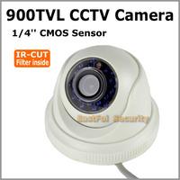 Full HD CCTV 900 TVL 960H IR-Cut mini Day/night  indoor dome cameras Free shipping