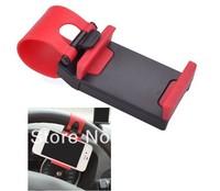 High Quality Silicon Car Steering Wheel Mobile Phone Socket Holder 54-76mm Retractable Cellphone GPS Car Wheel Mini Bracket