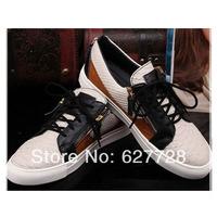 Free Shipping Brand GZ Snakeskin Women Sneaker,Lace Up Sport Sneaker,Genuine Leather Women Sneakers High Quality