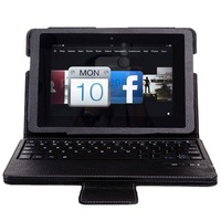 Removable Wireless Bluetooth Keyboard + PU Leather Case For New Amazon Kindle Fire HDX 8.9 2013