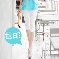Fashion Big Girl Plus Size S-3XL Basic Pants Women's Slim Fit Casual Mid Waist Elastic Capris 12 Colors Pencil Pants PT-088