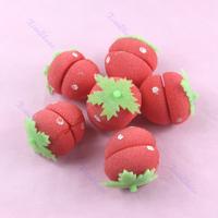 B39Hot Sell 1 set  Strawberry Soft Sponge Hair Curler Roller Balls Free Shipping