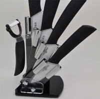 "Free HK-Post Express Shipping TWOSUN 3""+4""+5""+6""+Peeler+Knife Holder  Knife Sharp Kitchen Ceramic Cutlery Knives SetBK Black--6"