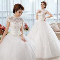 Slim wedding dress 2014 spring lace bride vintage princess wedding dress formal dress