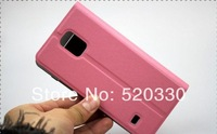 Wholesale & Free Drop shipping 2014 Phone windows PU Leather Case Cover For Samsung Galaxy S5 i9600 with holder call dispaly
